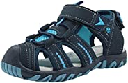 Apakowa Kid's Boy's Girls's Soft Sole Close Toe Sport Beach Sandals (Toddler