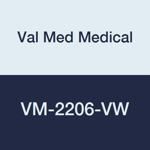 Val Med Medical VM-2206-VW Vinyl Backed Bib, Food Pouch, Velcro Closure, 18'' Width, 30'' Length, White (Pack of 60)