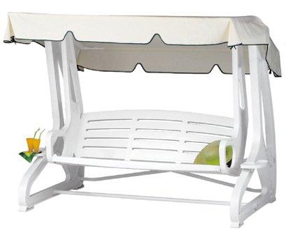 Grand Soleil Arredamento Da Giardino.Grandsoleil Dondolo Summer Polipropilene Bianco Amazon It
