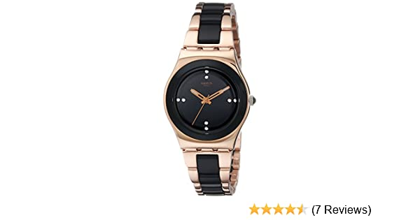 Amazon.com: Swatch Womens YLG123G Rose Pearl Analog Display Analog Quartz Rose Gold Watch: Swatch: Watches