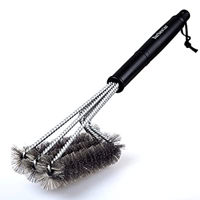 "Grill Brush, Barbestar 18"" 3 in 1 Barbecue Grill Brush Bristles, Stainless Steel, Sturdy and Effective, Perfect for All Barbecue Lovers"