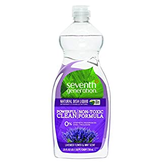 Seventh Generation Dish Liquid, Lavender Floral and Mint, 25-Ounce Bottles (Pack of 6) Packaging May Vary