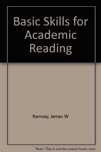 Basic Skills  For Academic Reading