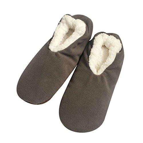 Men's Slippers Socks Autumn Winter Indoor Non-skid Floor Shoes by Elfjoy