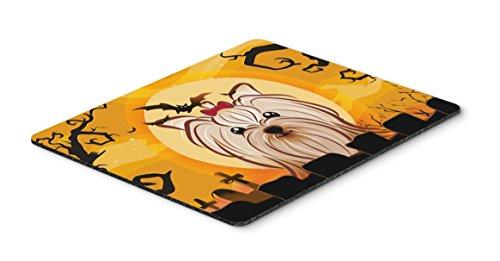 Caroline's Treasures Halloween Yorkie Yorkshire Terrier Mouse Pad, Hot Pad or Trivet, Multicolor (BB1762MP)]()