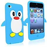 SKS Distribution 9K-CWN8-BIN6 Light Sky Blue Penguin Style Case Back Cover for Apple iPod Touch 4TH Gen Generation 4 4G