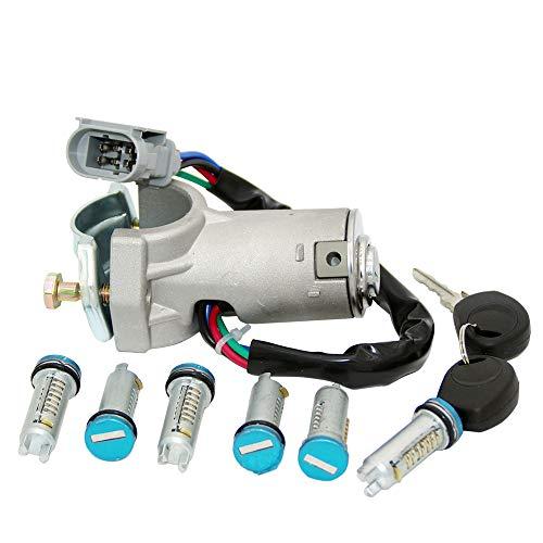 Semoic 2992551 2991727 Ignition Barrel Key Ignition Switch Barrel Door Lock Barrel For Daily 2000-2006 Door Lock Set-6 Barrels: