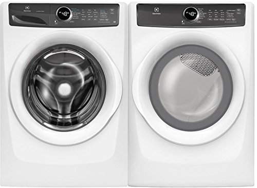 Electrolux White Front Load Laundry Pair with EFLW427UIW 27″ Washer and EFME427UIW 27″ Electric Dryer