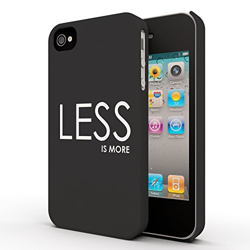Koveru Back Cover Case for Apple iPhone 4/4S - Less is more
