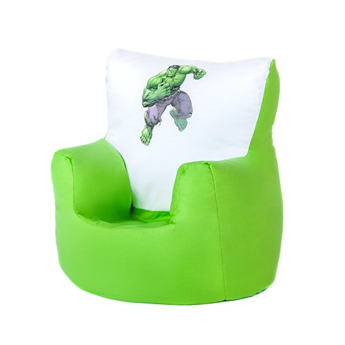 The Incredible Hulk Print Childrens Toddler Character Bean Bag Chair Seat With 100 Cotton Cover