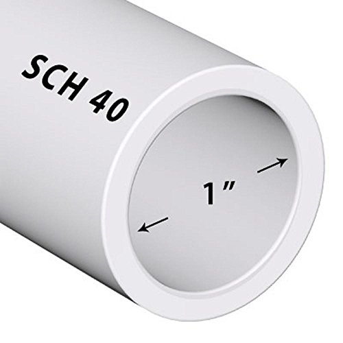 Premium Landscape Pool Spa PVC Pipe Sch 40 1 Inch (1.0) White / PVC / 1 FT (Pvc Pipe Sch)