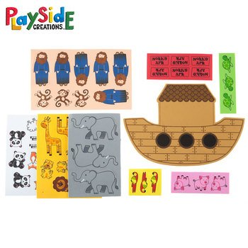 Playside Creations VBS and Camp Crafts, Foam Noah's Ark Kits, Multi-Colored, 6 Count