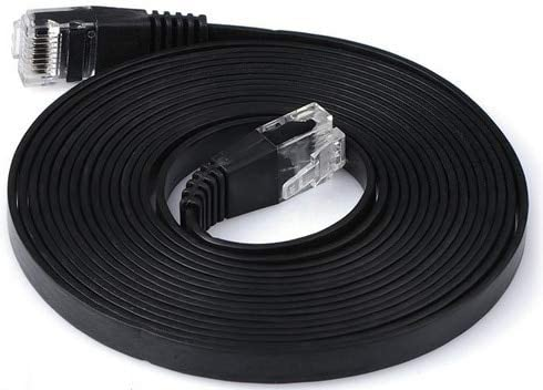 Computer Cables 1M//2M//3M//5M//10M//20M//30M CAT6 CAT 6 Flat UTP Ethernet Network Cable RJ45 Patch LAN Cord 1000Mbps Yoton ethernet Cable SuperFlat Cable Length: 20M