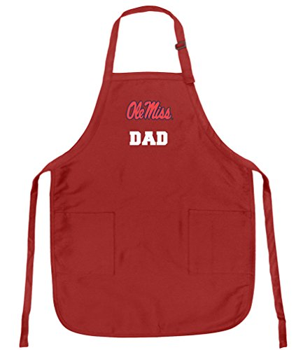 Broad Bay Best Ole Miss Dad Aprons Deluxe University of Mississippi Dad Apron