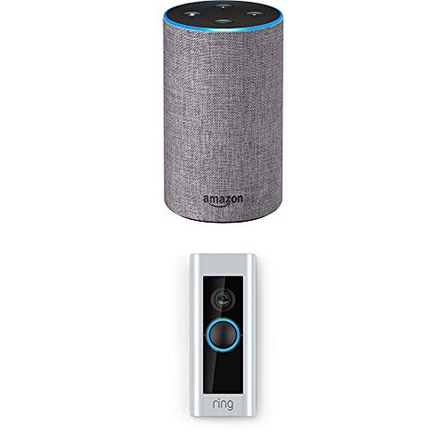 Echo (2nd Generation) – Heather Gray Fabric with Ring Video Doorbell Pro