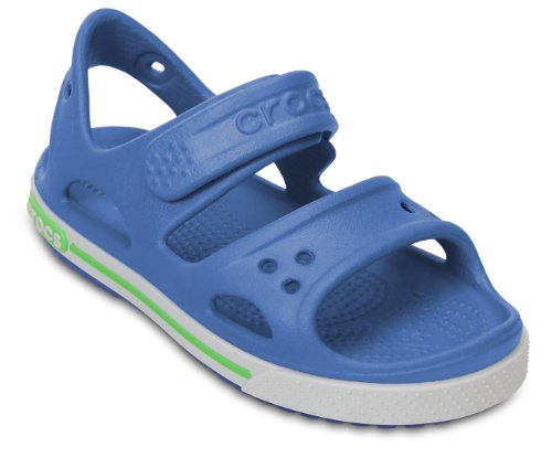 crocs Jungen Crocband II Sandal P Knöchelriemchen Sea Blue/White