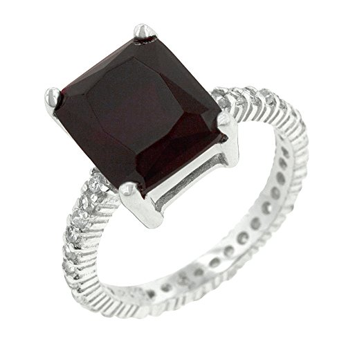 - J Goodin Radiant Cut Ruby Engagement Ring Size 10