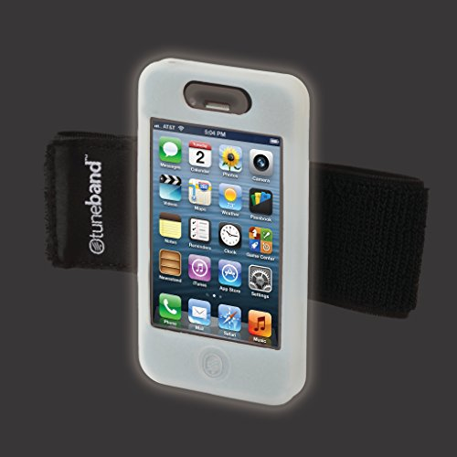 TuneBand for iPhone 4 / iPhone 4S, Premium Sports Armband with Two Straps and Two Screen Protectors, Glow in The Dark (Glow In The Dark Skin Iphone 4s)