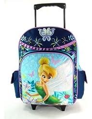 16 Disney Fairies Tinkerbell Large Rolling Backpack-tote-bag-school