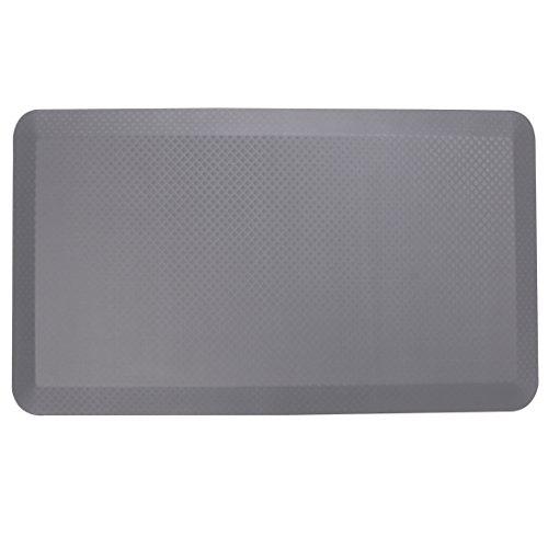 Gray Anti Fatigue Mat - Flexispot Anti-Fatigue Non-Slip Comfort Kitchen Floor Mat Standing Desk Mat (32 x 20 Grey)