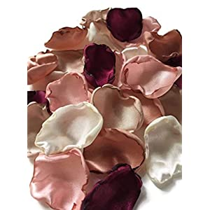 Maroon blush pink ivory champagne and rose quartz mix of 150 flower petals 52