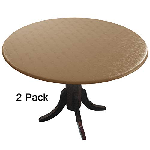 Econotex 2 Pack Doeskin Tan Fitted Tablecloths, (tablecovers, Table Covers) in Neutral Shades That Blend with Any Decor. The ECO in Means There is no Ink on These ()