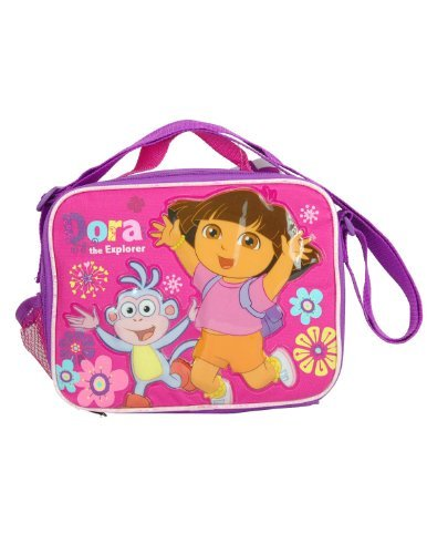 Bolsa de almuerzo – Dora la Exploradora – con flores globalpowder regalos juguetes Nuevo caso 619763