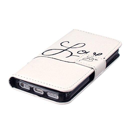 Iphone 5S Hülle, COWX PU leder Hülle für Iphone 5S 5 Ledertasche Schutzhülle Case, Iphone 5 Hülle, iphone 5S 5 case,Tasche Standfunktion Brieftasche für Iphone 5S 5 Taschen Schalen