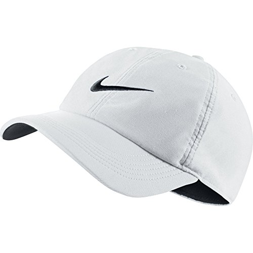 (Nike Train Twill H86 Adjustable Training Hat White/Black/Black)