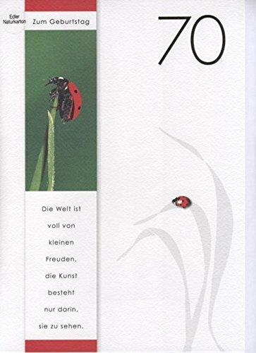 Geburtstagskarte 70 din a4