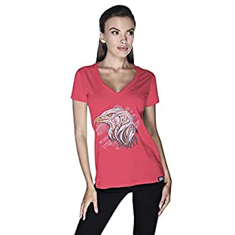 Creo Eagle Animal T-Shirt For Women - M, Pink