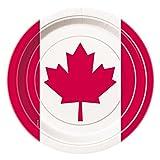 Canada Day Leaf Dinner Plates, 8ct
