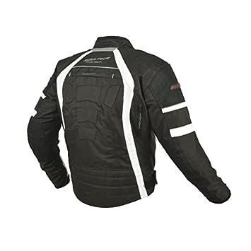 Noir//Blanc XL RIDER-TEC Blouson Moto Etanche Homologu/é CE-13595