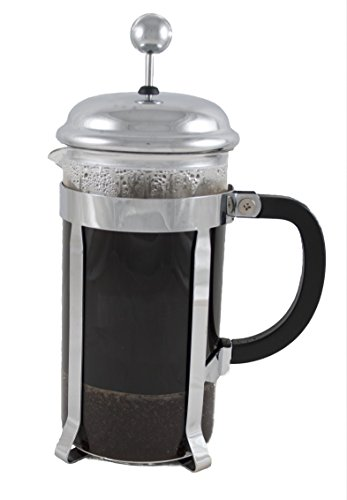 - ProCo French Press Coffee Maker, 1Liter, 34oz, Large Stainless Steel, Heat Resistant Borosilicate Glass Beaker, 100 Percent Satisfaction Guarantee.