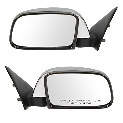 Manual Side View Mirrors Chrome Left & Right Pair Set for 89-95 Toyota ()