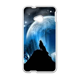 HTC One M7 Cell Phone Case White wolf Khzpr