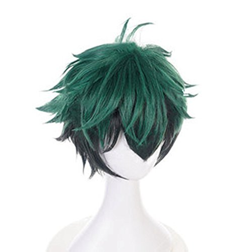 Bowinr Cosplay Wig for My Hero Academia, All Might, Izuku Midoriya, Todoroki Shoto, Katsuki Bakugou, Synthetic Hair Wigs for Anime-Fans(Izuku ...