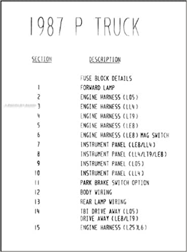 1987 Chevy/GMC P Forward Control Wiring Diagram Motorhome and Stepvan P20  P30 P2500 P3500: General Motors: Amazon.com: Books | Chevrolet P30 Wiring Diagram |  | Amazon
