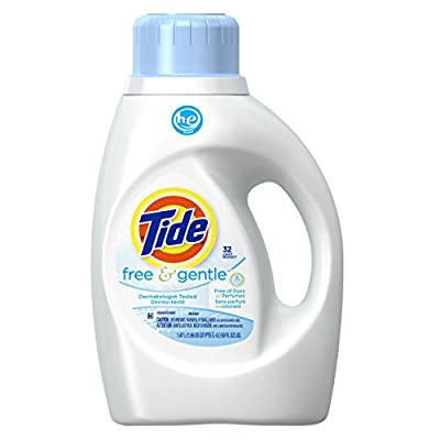 Tide Free and Gentle High Efficiency Liquid Laundry Detergent, 50 Ounce (32 Loads), 2 Count