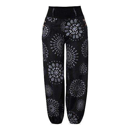 Bringbring Pantalons Over imprim Bloomers All Pantalon Femmes Style Noir Sarouel lache Sarouel wv084q7