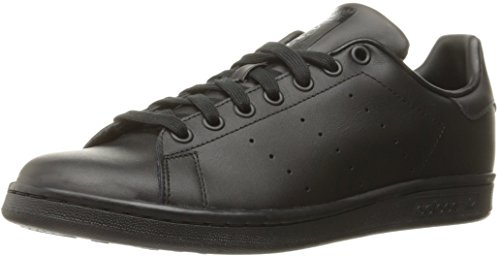 adidas Men's Originals Stan Smith Sneaker, Core Black/Black/Black, 9.5 M US (Adidas Tennis Sneakers)