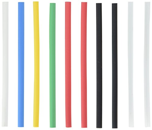 NTE Electronics HS-ASST-6 Thin Wall Heat Shrink Tubing Kit, Assorted Colors, 6