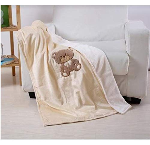 Embroidery Teddy Bear Baby Blanket 40