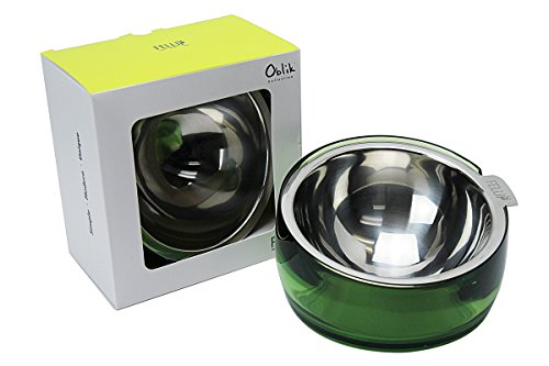 [Kiwicomp Dog Cat Bowl For All Cat Breeds and Small - Medium Dogs Stainless Steel Non-Toxic Acrylic Material Easy Clean Dishwasher Safe Non-Skid Pet Bowl - 5.5 Inch] (Girls Jade Princess Costumes)