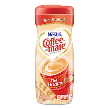 Nestle Coffee Mate Non-Dairy Powdered Creamer, Original, 22 Oz Canister, 12/Carton