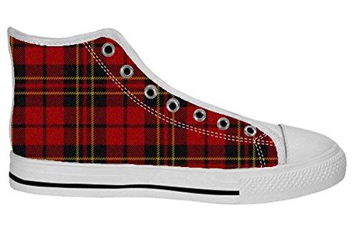 Kvinners Lerret Høy Topp Sko Art Design Mønster Shoes16