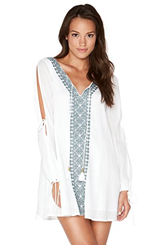 LSpace Women's Gold Coast Tunic, White/Slated Glass, X-Small by L*Space