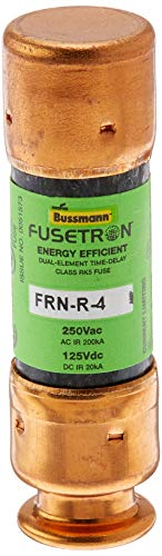 Bussmann FRN-R-4 4 Amp Fusetron Dual Element Time-Delay Current Limiting Fuse Class RK5, 250V UL Listed