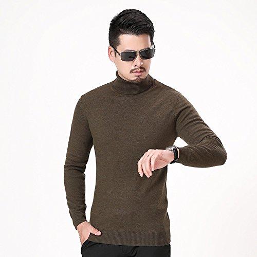 Jdfosvm männer - Hemd und Pullover Kragen ärmel Kopf männlichen langärmelige Pullover schlanke männer Mode,dunkier Kaffee,XL