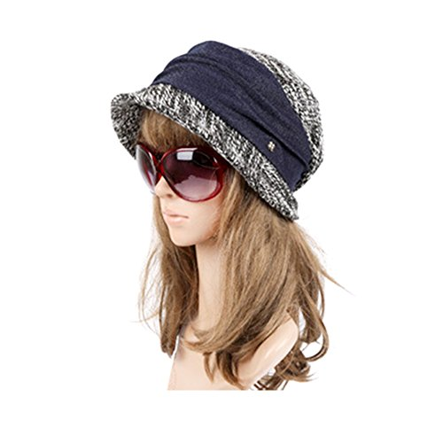 JAMOR Autumn and Winter Outdoor Ladies Hat Casual Shopping Sun Hat Fashionable Warm Hat (Black) by JAMOR (Image #1)
